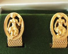 Vintage Swank Gold Cufflinks New Old Stock -on Etsy at RetroRosiesVintage