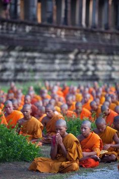 Monks of Angkor Cambodia Cambodia Travel Honeymoon Backpack Backpacking Vacation Buddhist Monk, Buddhist Temple, Vietnam, Laos Thailand, Theravada Buddhism, Cambodia Travel, Angkor Wat, World Cultures, Beautiful Places To Visit