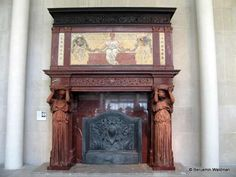 Surviving fireplace mantle from Cornelius' mansion now in the Metropolitan Museum of Art
