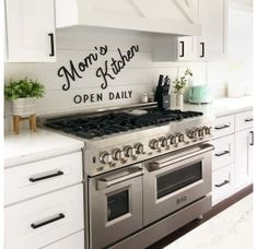 7 Gas Burner/Electric Oven Range, – Premium Home Source Dual Oven, Double Oven Range, Double Oven Stove, Double Oven Kitchen, Kitchens With Double Ovens, Kitchen Oven, Stove Oven, Kitchen And Bath, New Kitchen