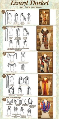 Scarf Tying Instructions... - Scarf Tying Instructions... Repinly Womens Fashion Popular Pins #style #fashion