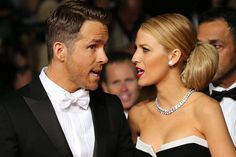 """I told you I thought my hair looked stupid before we left the house!"" - A History of Ryan Reynolds gazing lovingly at Blake Lively - ELLE"