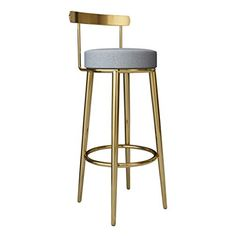 Zxl-btd Nordic net red bar Stool Creative Dining Chair Gold bar Chair backrest high Chair Front Desk Reception Chair Home Stool (Color : Size : Sitting Height Black Bar Stools, Metal Bar Stools, Counter Stools, Bar Chairs, Dining Chairs, Mini Bar At Home, Table Etiquette, Upholstered Bar Stools, High Stool