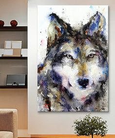 Look at this Dean Crouser Wolf Wrapped Canvas on #zulily today!