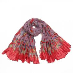 http://www.artfire.com/ext/shop/studio/bohemiantouch/1/1/10311//  Pink and Red Bird Print Soft Touch Fashion Shawl Scarf, scarf is a great addition to your collection of fashion accessories. Perfect for all year round.
