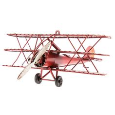 Red Tri-Level Metal Plane with Stars   Hobby Lobby   343434