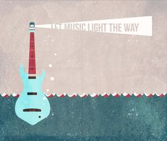 Poster | LET MUSIC LIGHT THE WAY von Romina Lutz | more posters at http://moreposter.de