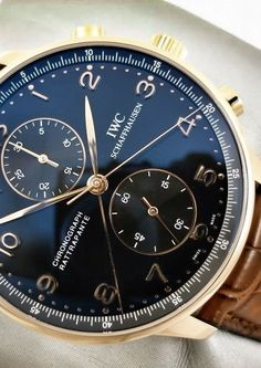 Beginner's Guide to Luxury Watches - IWC Stylish Watches, Cool Watches, Watches For Men, Fancy Watches, Dream Watches, Luxury Watches, Iwc Watches, Beautiful Watches, Vintage Watches