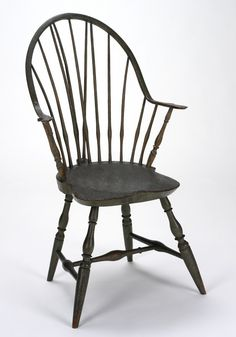 RISD Museum: Unknown artist, probably American; Connecticut. Windsor Armchair, 1780-1800. Oak, ash or hickory, maple, and poplar. 102.9 x 55.9 x 48.3 cm (40 1/2 x 22 x 19 inches). Gift of the Estate of Mrs. Gustav Radeke 31.427