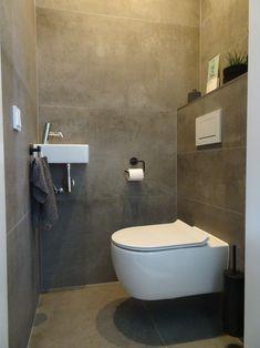 Bathroom Design Luxury, Bathroom Design Small, Bathroom Interior, Small Downstairs Toilet, Small Toilet Room, Bathroom Design Inspiration, Bad Inspiration, Bathroom Goals, Bathroom Trends