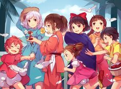 Studio Ghibli Girls <3