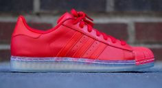 "adidas Superstar CLR ""Vivid Red"" - SneakerNews.com"