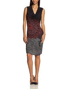 Desigual Damen Kleid VEST_DOLLY, Knielang, Gr. 38 (Herstellergröße: M), Schwarz (NEGRO 2000)
