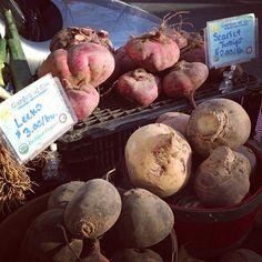 #leeks and #turnips at #Queens' Forest Hills Greenmarket #farmersmarketnyc