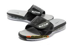 b7e0290f009ff Officiel Nike LeBron 10 X Nike Air Sandales Nike 2016 Pas Cher Pour Homme  Noir