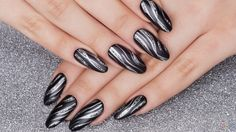 These fabulous nails look so stylish that it can be universal. It can be used either as casual or for...