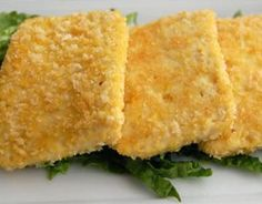 Baked Crispy Tofu...use Iran's Panko Breadcrumbs at Whole Foods.....has no partially hydrogenated oil in it. IMPORTANT