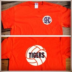 Private listing for Amy Morrison -Volleyball monogram t-shirt (long sleeve) on Etsy, $21.95