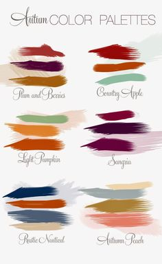 Fall Wedding Theme - Wedding Colors | Read more: http://simpleweddingstuff.blogspot.com/2014/07/fall-wedding-theme.html
