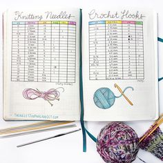 25 Craft Bullet Journal Ideas to Help You Keep Track of Your Creative Projects Keep track of your ever-growing collection of knitting needles and crochet hooks History of Knitting Wool rotating, weav. Knitting Needle Sets, Knitting Needles, Knitting Patterns, Crochet Needles, Knitting Wool, Crochet Stitches, Crochet Organizer, Crochet Hooks, Bullet Journal Knitting