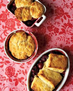 The biscuit topping on this classic cherry cobbler is extra rich and tender thanks to the addition of heavy cream. Use fresh cherries in this recipe if you like, or save time by choosing frozen cherries. Canned Cherries, Frozen Cherries, Sweet Cherries, Tart Cherries, Potluck Desserts, Just Desserts, Dessert Recipes, Dessert Ideas, Cherry Desserts