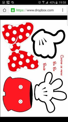 Cumple Mickey & Minnie Mouse | Molde Centro de Mesa Mickey & Minnie Mouse