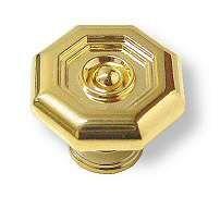 "Octagonal Polished Gold 1-1/8"" Knob  CB-PN0234-GLD-C"