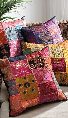 Ari patchwork cushion cover 45 x 45cm 8 playroom