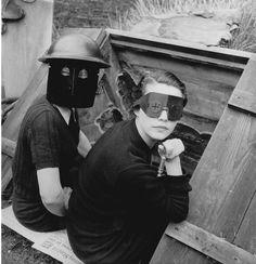 * Lee Miller (1907-1977) Women with Fire Masks, Downshire Hill, 1941 © Lee Miller