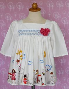 SALE  15% OFF.  Smocked top for girls smocking by ErphaAhdayani