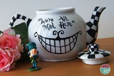 Make this homemade Alice in Wonderland Teapot with ceramic paints. A lovely addition for your Through the looking glass birthday party.