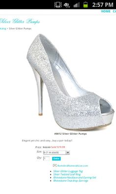 The coolest sparkly silver shoes