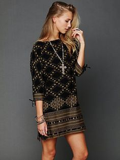 Free People FP New Romantics Stole My Heart Dress at Free People Clothing Boutique  Beads can be pointelle!!