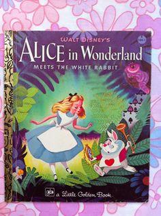 Little Golden Book Disney's Alice in Wonderland. From Fibs & Scraps.