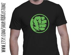 Superhero hulk fist shirt, custom tshirt, heat vinyl transfer by RBKustomz on Etsy https://www.etsy.com/listing/231782529/superhero-hulk-fist-shirt-custom-tshirt
