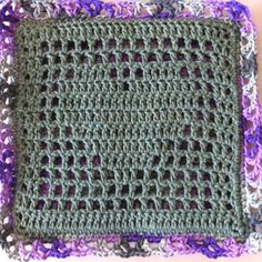 Crocheted hot pads given to teachers for end-of-year gifts.