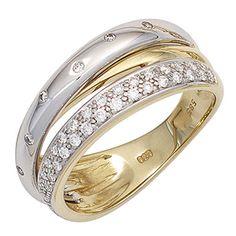 Dreambase Damen-Ring Gelbgold mit Weißgold kombiniert 14 ... https://www.amazon.de/dp/B01GQWZ10Y/?m=A37R2BYHN7XPNV