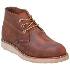Shop Red Wing Shoes Classic Chukka 3137 in Oil-Tanned Copper Leather for Men at http://inf.shoes/1MQ8ymV. FREE Shipping, Easy Returns! #RedWing #Chukka #Chukka3137 #Shoes #Boots #OilTanned #Copper #Tan #Men #Leather #AtlasTred #MadeInUSA