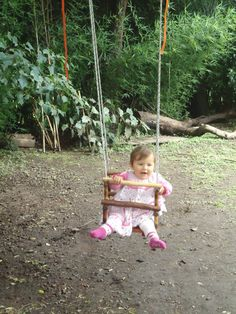 Handmade wooden baby swing or toddler swing chair / by Wiwiurka