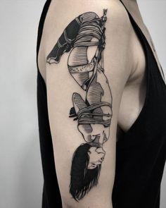 Pop Art Tattoos, Dark Art Tattoo, Pin Up Tattoos, Tatoo Art, Movie Tattoos, Tattos, Tattoo Girls, Pin Up Girl Tattoo, Girl Tattoos