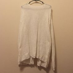 White bow back sweater A perfect winter sweater, with a beautiful now back. Barely worn. Aeropostale Sweaters