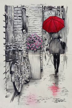 View LOUI JOVER's Artwork on Saatchi Art. Find art for sale at great prices from artists including Paintings, Photography, Sculpture, and Prints by Top Emerging Artists like LOUI JOVER. Pencil Art Drawings, Art Drawings Sketches, Cool Sketches, Umbrella Art, Arte Sketchbook, Painting Edges, Stretched Canvas Prints, Art Paintings, Watercolor Paintings