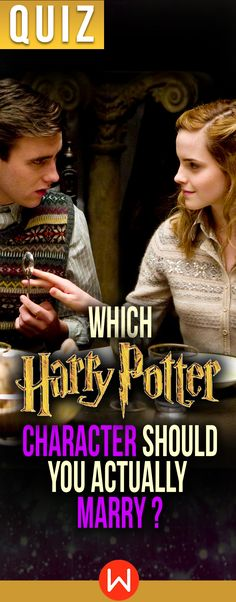 Harry Potter Quiz: Which HP character should you marry? Harry Potter personality test, Neville Longbottom, Hermione Granger, Harry Potter relationships, Harry Potter love, Compatibility test, love quizzes, Wizarding World, playbuzz quizzes, buzzfeed quiz. Is Malfoy your true love or just a crush?