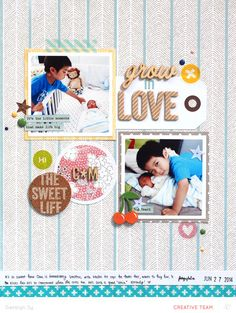 #papercraft #Scrapbook #layout.  In a Creative Bubble: Grow in Love