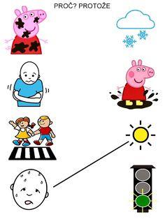 Pro Šíšu: Proc/protoze - spojovacky Kids Learning Activities, Worksheets For Kids, Snoopy, Fictional Characters, Therapy, Infant Learning Activities, Kids Worksheets, Fantasy Characters