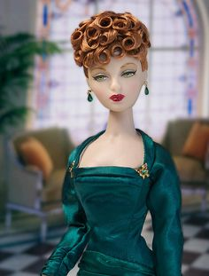 IT Gene Marshall ~ 'Cocoa Crisp' in 'Emerald Eve' ~ Hair restyle by Kathy Johnson ~ Image and styling by Tom Logan ~ The Studio Commissary