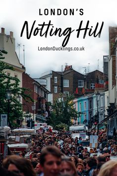 Notting Hill is one of those iconic areas in London that you just have to visit while visiting the UK capital. #london #travel #nottinghill Notting Hill Festival, Notting Hill Market, Bedknobs And Broomsticks, Uk Capital, Notting Hill Carnival, Victorian Townhouse, London Boroughs, Local Bands, Great Western