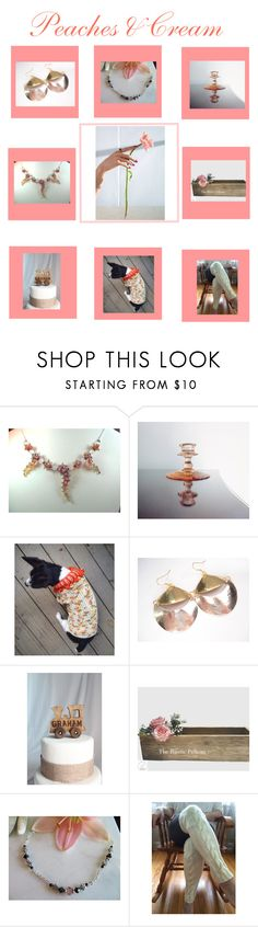 Peaches & Cream by therusticpelican on Polyvore featuring CAVO, Rustico, Nome, modern, contemporary, rustic and vintage
