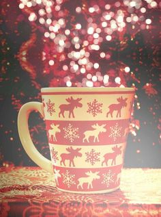 REINDEER MUG!! (kinda like a caribou mug... only not... get it? ;))