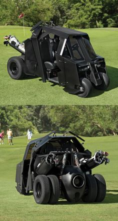 The Dark Knight Inspired Tumbler Golfcart. Why Is Golf So Serious? Now For Only $35,000.00!